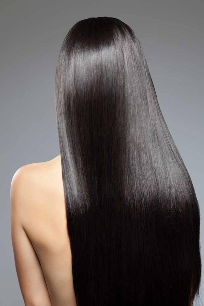 silky shiny hairs
