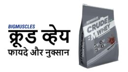 Bigmuscles crude whey in hindi